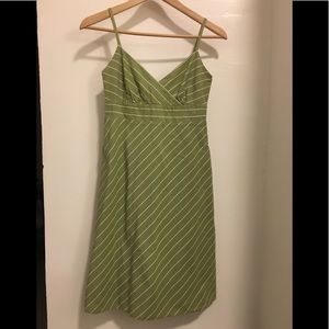 JCREW Dress Striped Green Sundress 0P